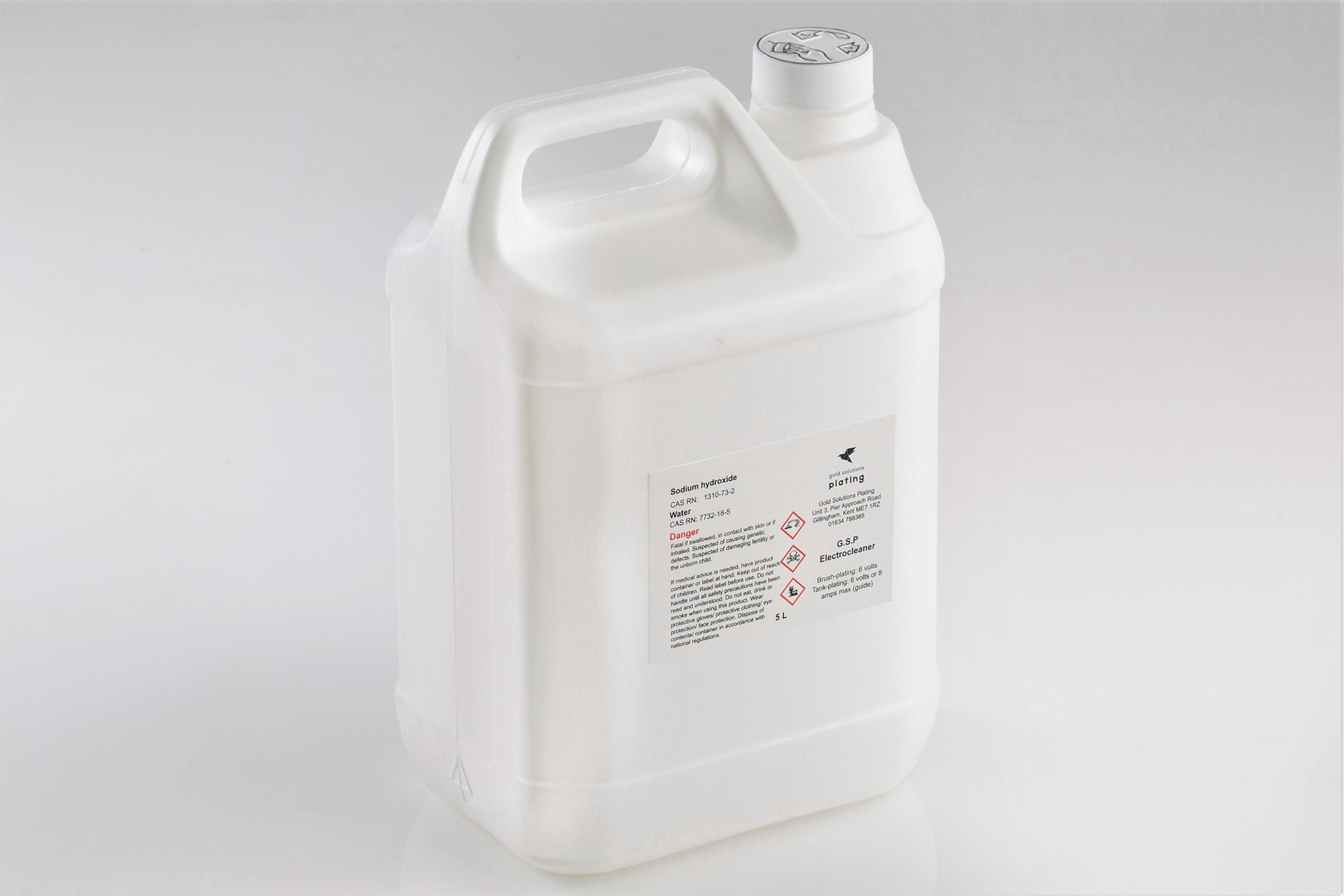 G.S.P Electrocleaner Solution, 5 litre bottle