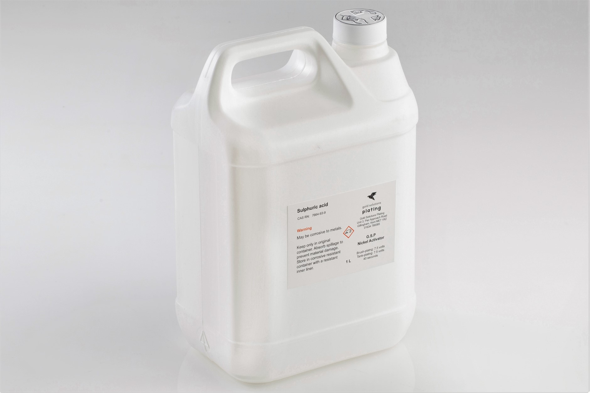 G.S.P Nickel Activator Solution, 5 litre bottle