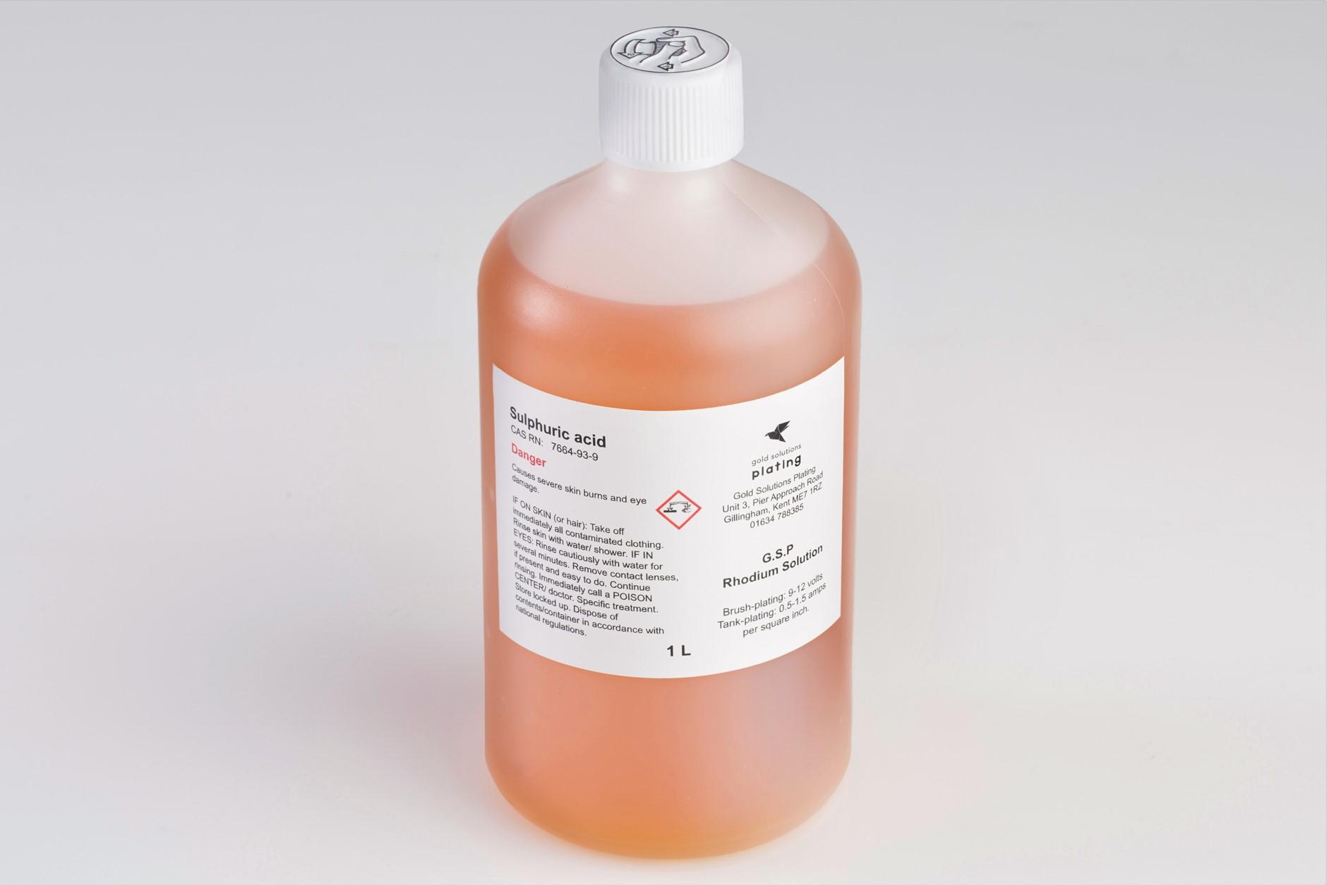 G.S.P Rhodium Plating Solution, 1 litre bottle
