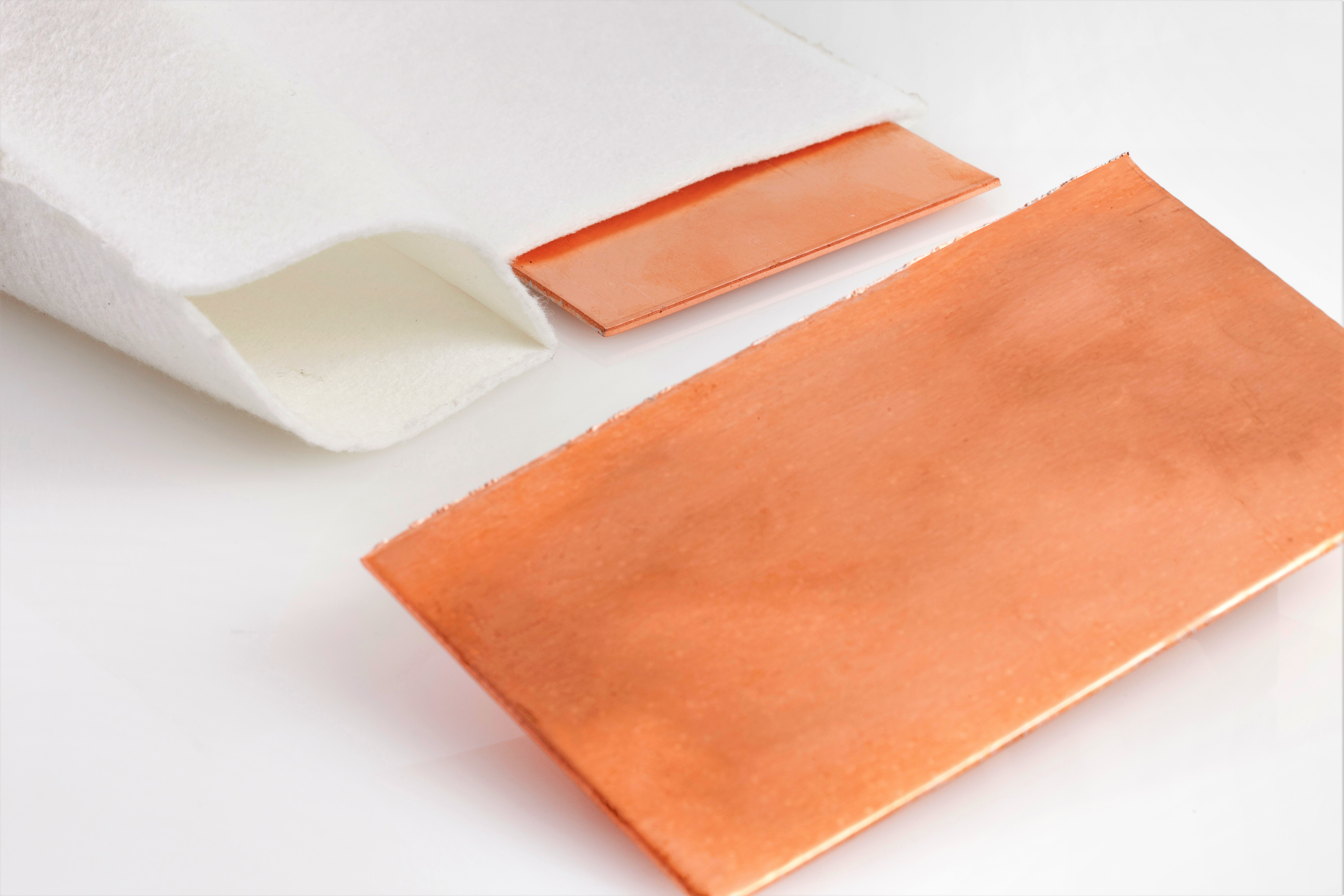 Set of two PDO Flat Copper Tank Anodes and two high-quality anode bags