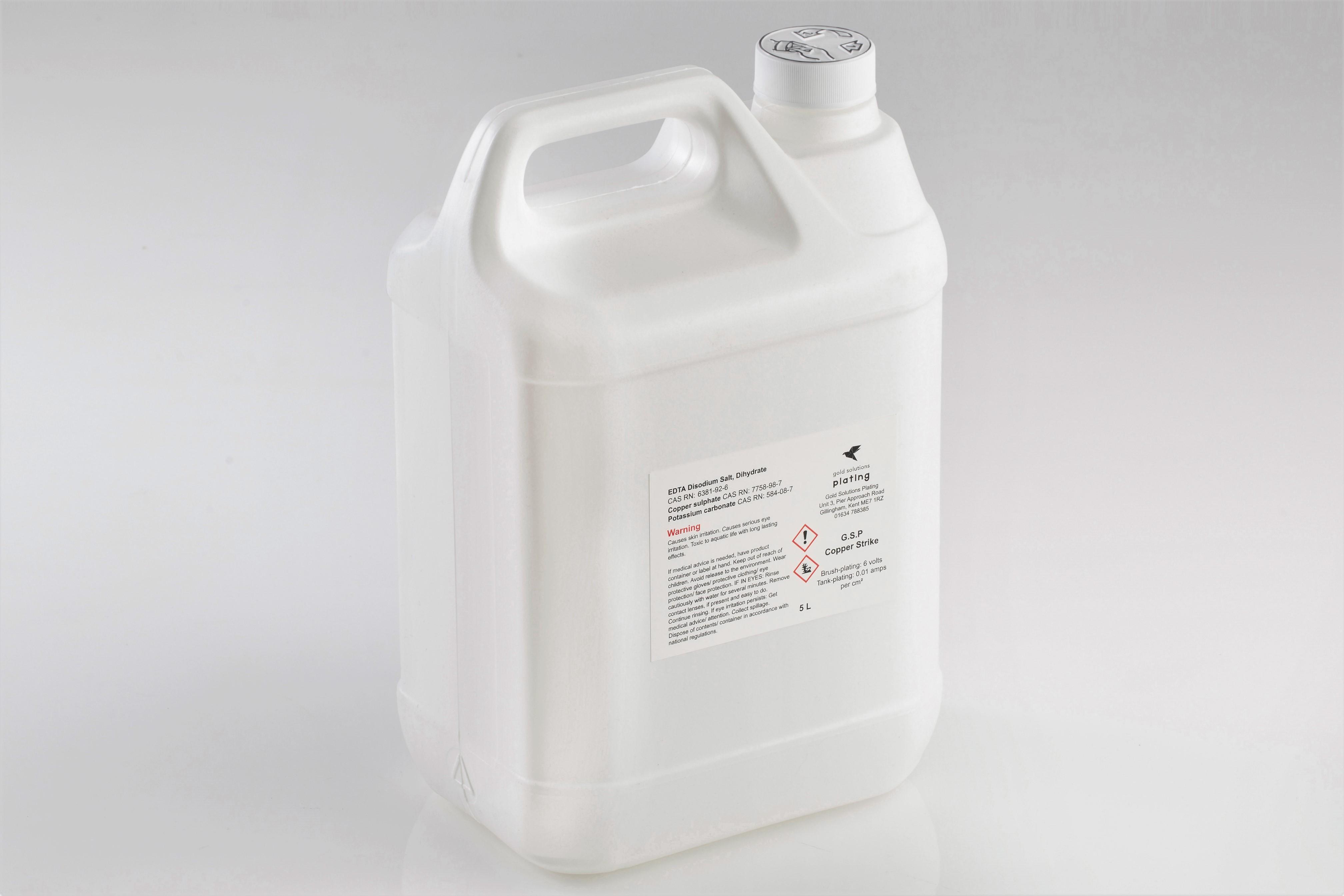 G.S.P Copper Strike Solution, 5 litre bottle