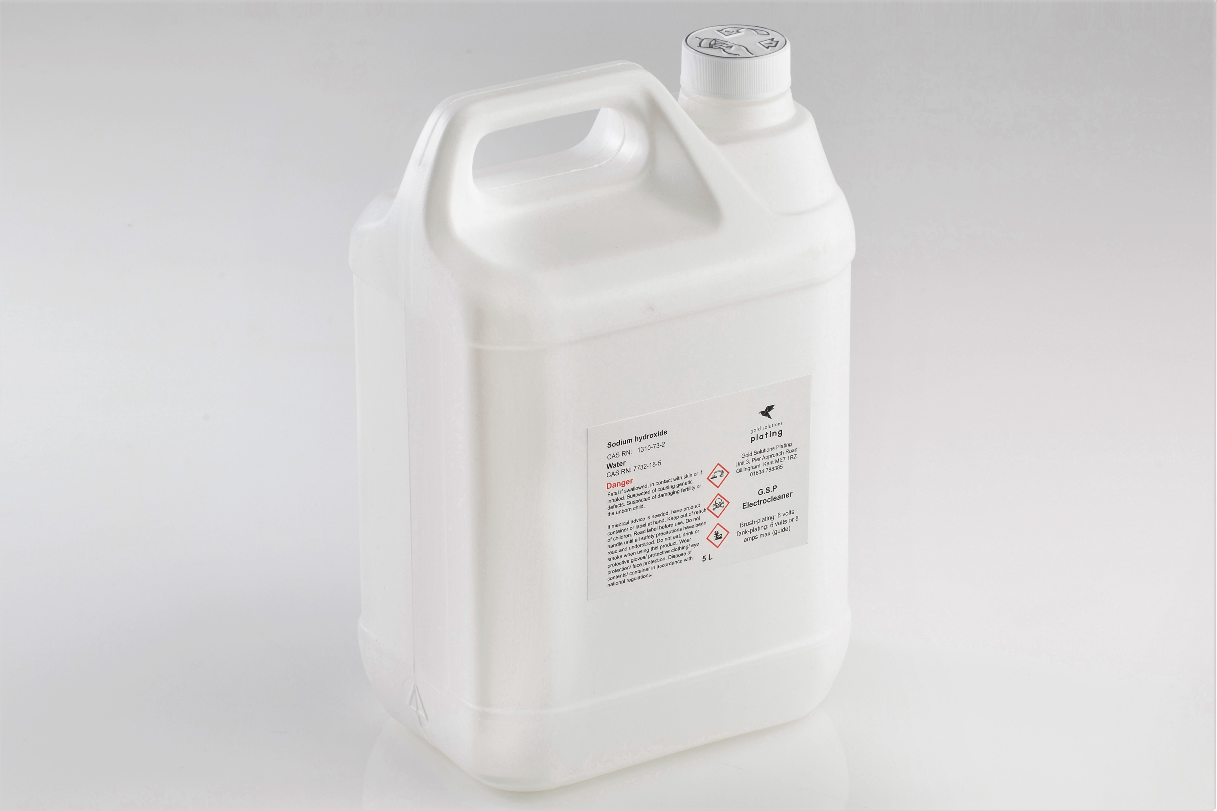 G.S.P Electrocleaner Solution, 5 litre bottle