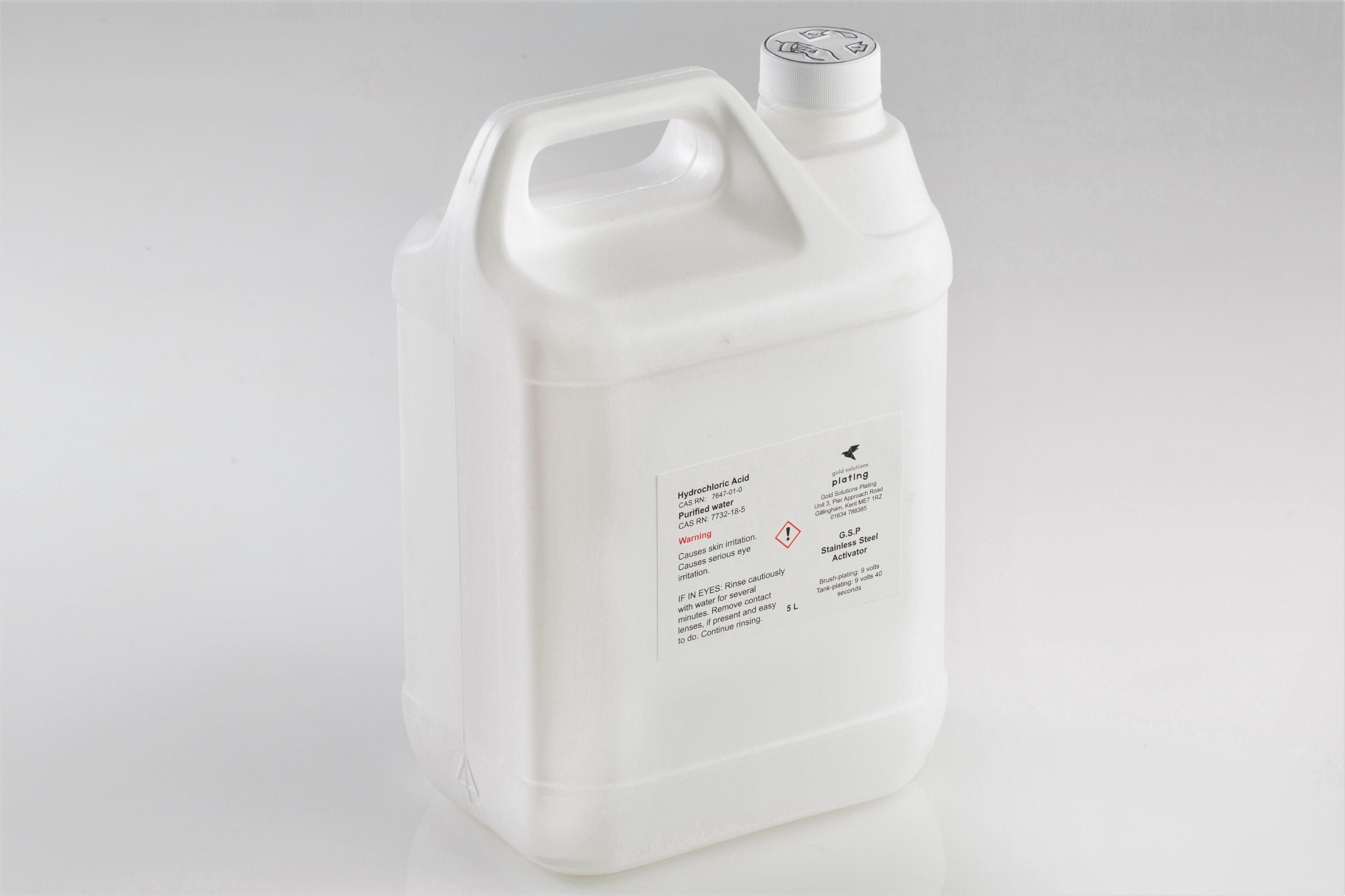 G.S.P Stainless Steel Activator, 5 litre bottle