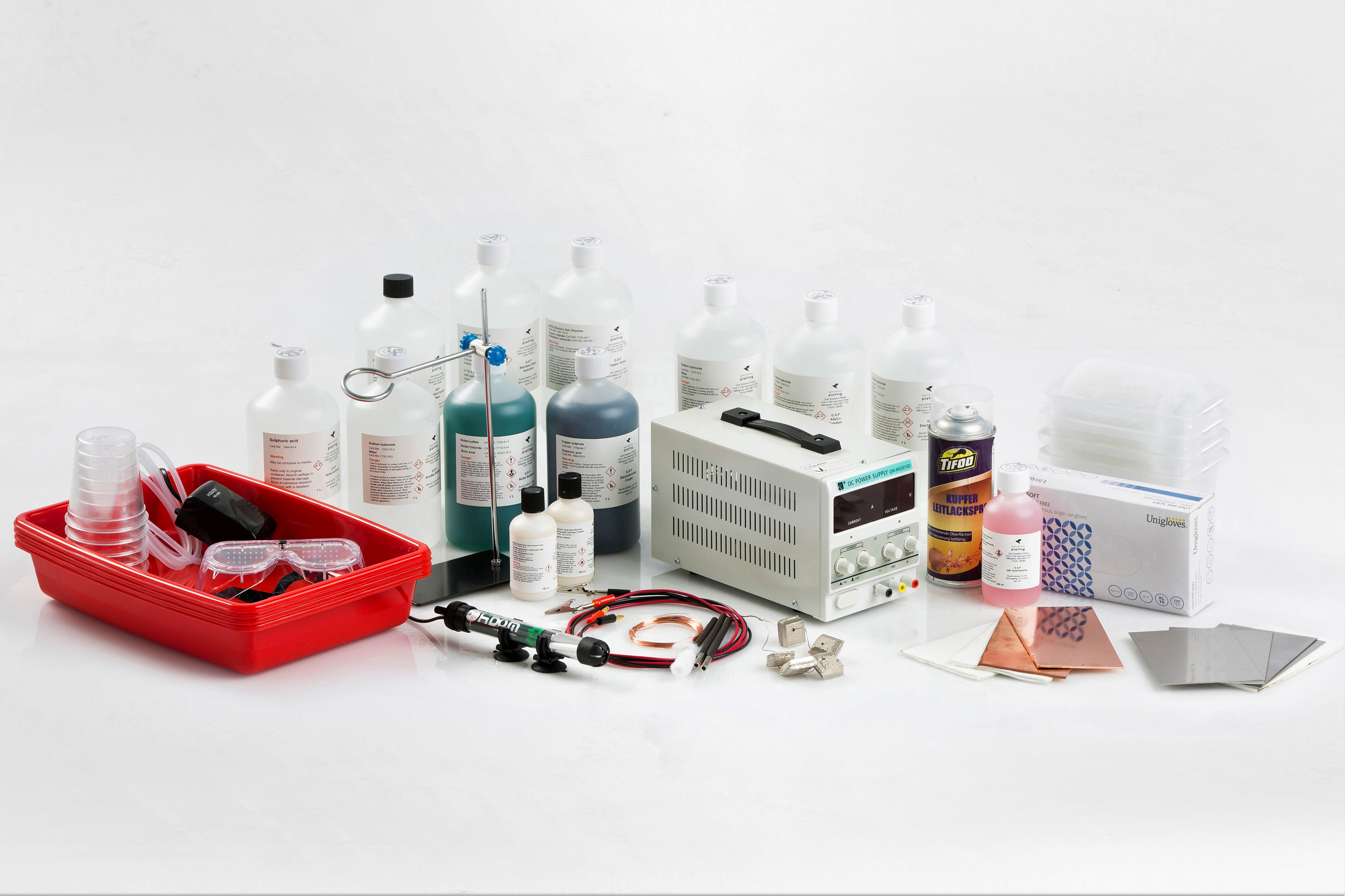 GSP Prodigy 1.0 Electroforming / Electroplating Kit Contents