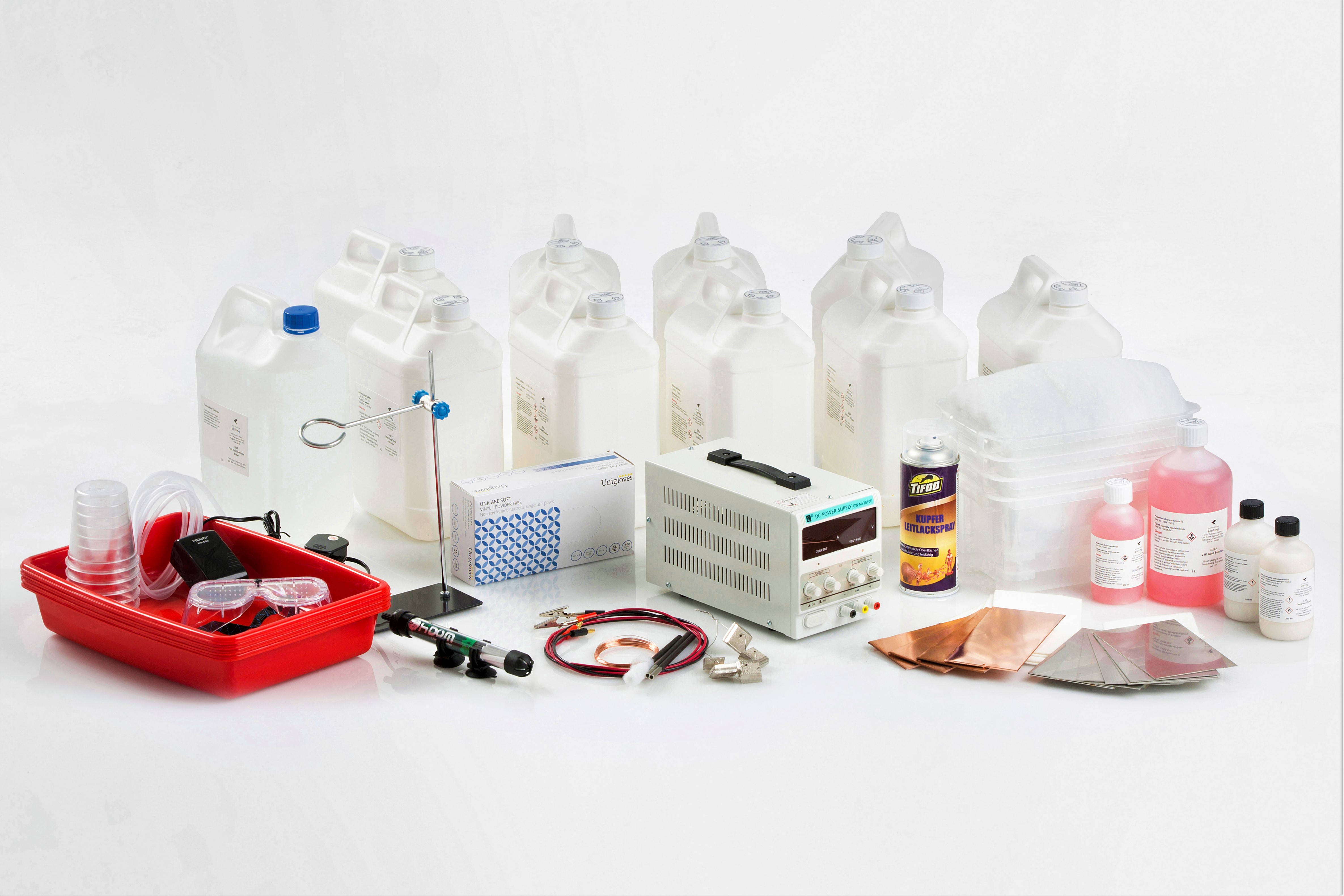 GSP Prodigy 5.0 Electroforming / Electroplating Kit Contents