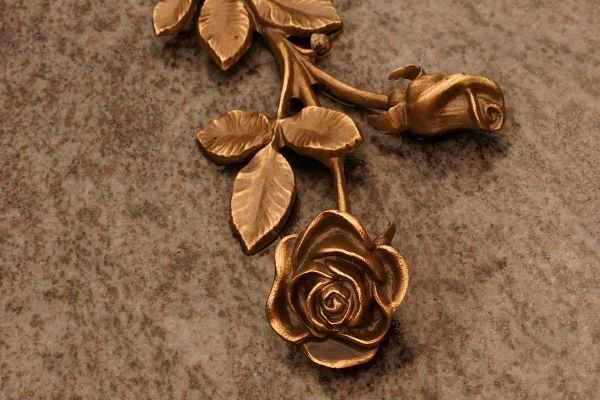 Real rose electroformed and plated in copper